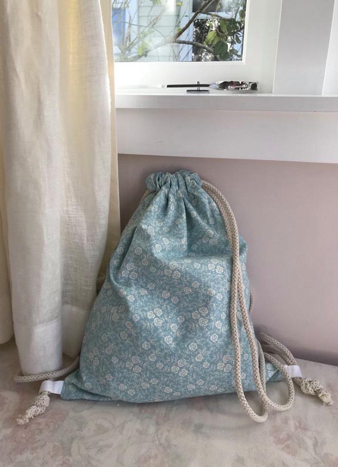 Light cotton, blue floral -$35