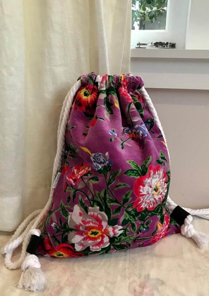 Purple floral velvet - $45