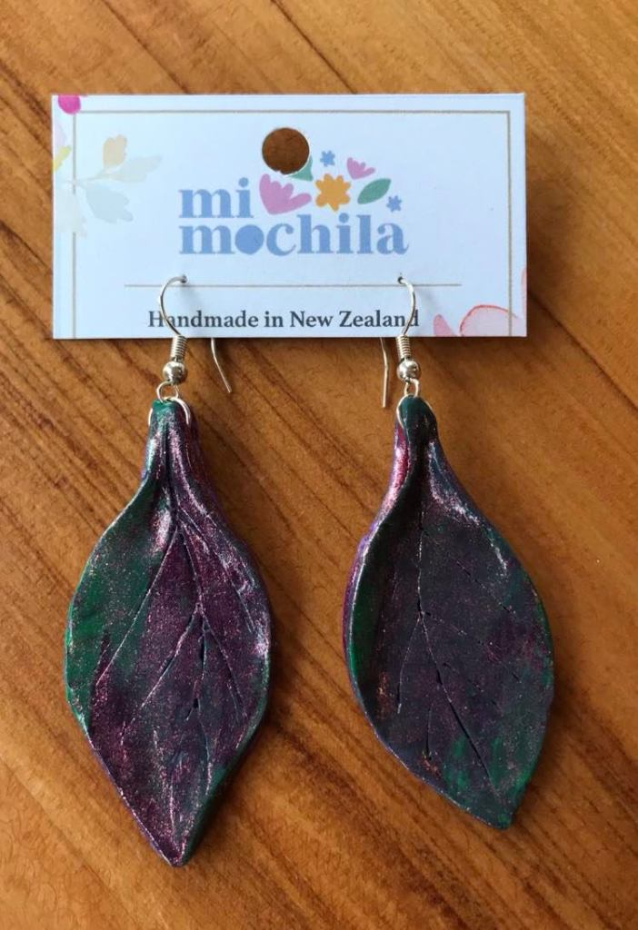 Green &Purple leaves (5cm) $15