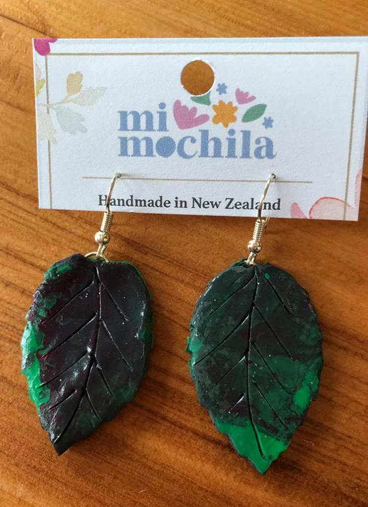 Green &black leaves (4 cm) $15