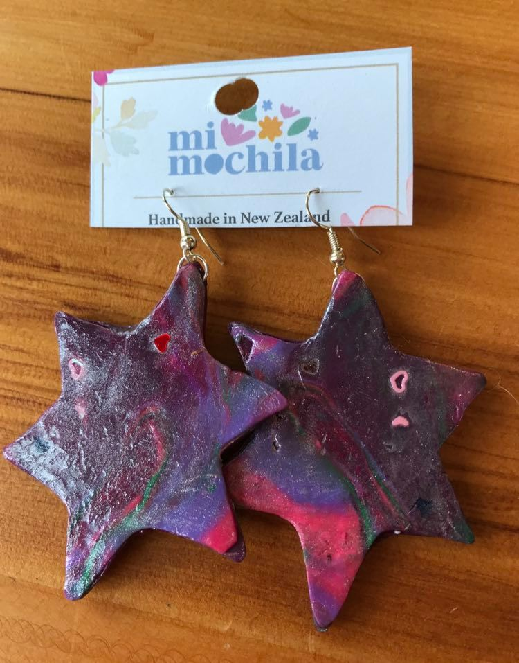 Purple stars (6 cm long) $15