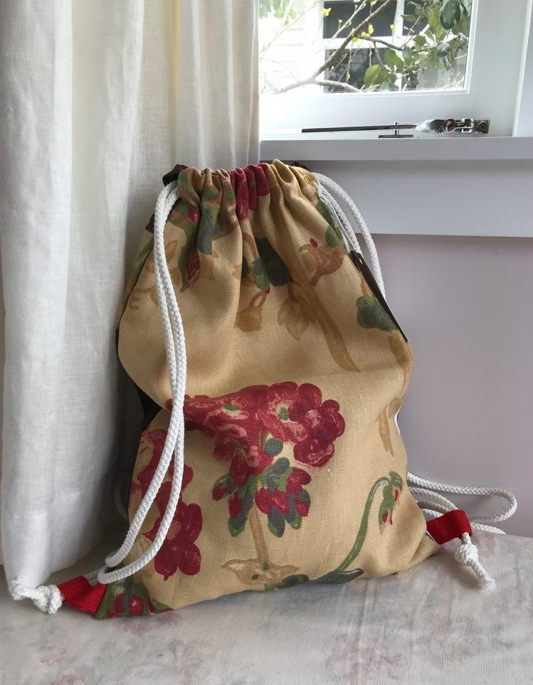 'Washington' Upholstery mustard floral $45
